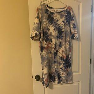 Tiedye tshirt dress